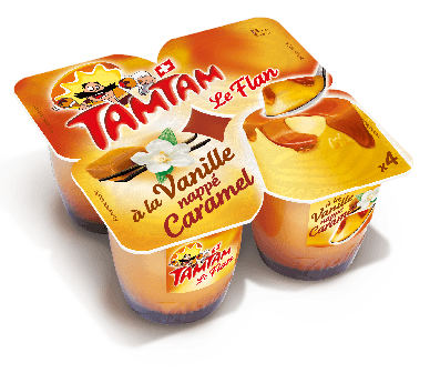Découvrir les Flan à la Vanille nappé Caramel